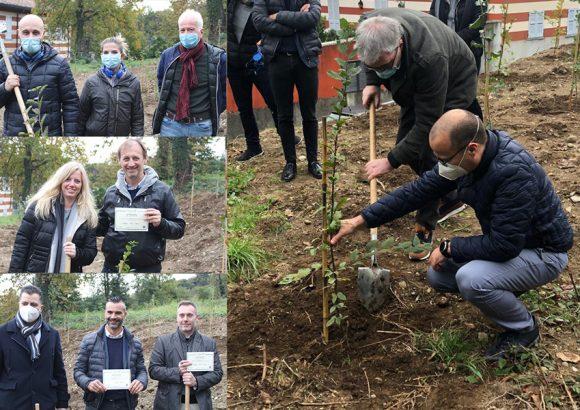piantati i primi 60 alberi, la forestazione ha inizio!